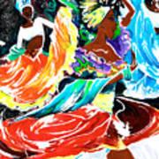 Cuban Dancers - Magical Rhythms... Art Print