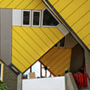 Cube Houses Detail In Rotterdam Art Print