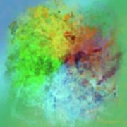 Cubist Rainbow Clouds Art Print