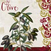 Cucina Italiana Olives Art Print