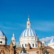 Cuenca Cathedral Domes Art Print
