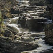 Cullasaja Falls In Autumn Close Up Art Print