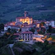 Cultural Heritage Monument Medieval Hilltop Village Of Smartno B Art Print