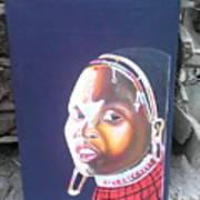 cultural Masaai Woman Art Print