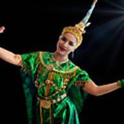Cultural Thai Dance Art Print