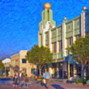Culver City Plaza Theaters   Art Print