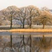 Cumbria, England Lake Scenic With Art Print