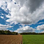 Cumulus Skies In France Art Print
