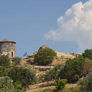 Cunda Island Greek Windmill Art Print