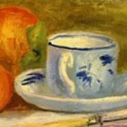 Cup And Oranges Art Print