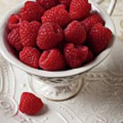 Cup Full Of Raspberries  Print by Garry Gay