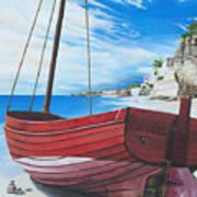 Cupecoy Beach Art Print