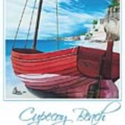 Cupecoy Beach Poster Art Print