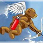 Cupid Bear Art Print