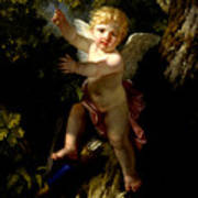 Cupid In A Tree Art Print