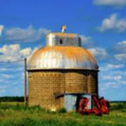 Cupola Grain Silo - Iowa Art Print
