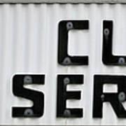 Curb Service Sign Art Print