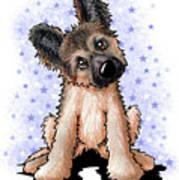 Curious Shepherd Puppy Art Print
