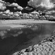 Curl Curl Beach With Dramatic Sky Art Print
