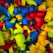 Curly Ribbons  Art Print