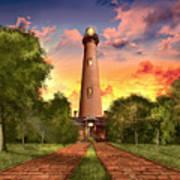 Currituck Beach Lighthouse 3 Art Print