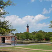 Currituck Lighthouse From Heritage Park Art Print
