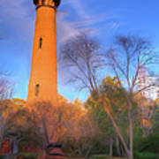 Currituck Lighthouse In Winter Outer Banks Ap Art Print