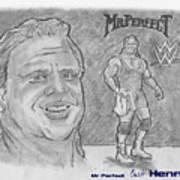 Curt Hennig- Mr Perfect Art Print