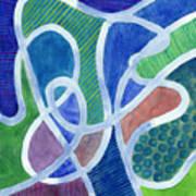 Curved Paths Art Print