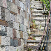 Curved Stone Staircase 235 Art Print