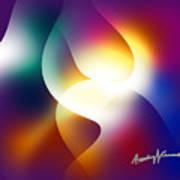 Curves And Light Art Print