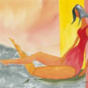 Curvey Lady Art Print
