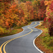 Curvy Road In The Mountains Art Print