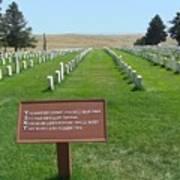 Custer National Cemetery Art Print