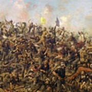 Custer's Last Stand From The Battle Of Little Bighorn Art Print