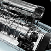 Custom Racing Car Engine Art Print