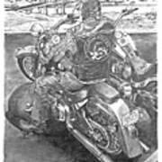 Custom Riders Art Print