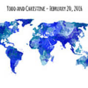 Custom World Map Art Print