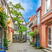 Cute And Colorful European Houses Art Print