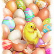 Cute Easter Chick Art Print