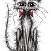Cuthbert The Cat Art Print