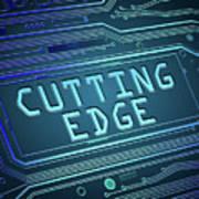 Cutting Edge Concept. Art Print