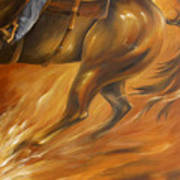Cutting Horse Closeup 2 Art Print