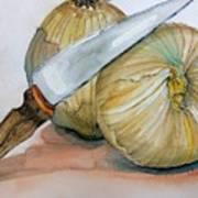 Cutting Onions Art Print