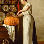 Cutting The Pumpkin Art Print