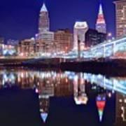 Cuyahoga Reflecting The City Above Art Print