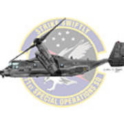Cv-22b Osprey 71sos Art Print
