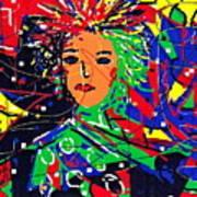 Cyberspace Goddess Art Print