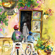 Cycling In Italy 04 Art Print