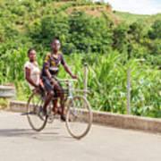 Cycling In Malawi Art Print